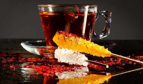 Treating MS with saffron by drinking one or two cups of saffron tea